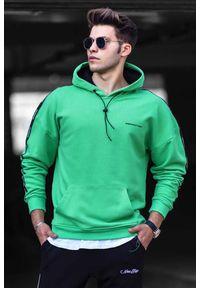 Zielona bluza IVET casualowa, z kapturem, na co dzień