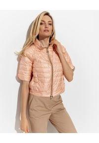 DIEGO M - Dwustronna kurtka z krótkim rękawem. Kolor: biały. Materiał: materiał. Długość rękawa: krótki rękaw. Długość: krótkie #1