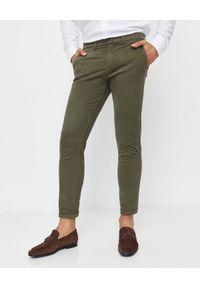 FAY - Bawełniane spodnie chino. Kolor: zielony. Materiał: bawełna. Długość: długie