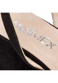Czarne sandały Ann Mex z aplikacjami, na co dzień