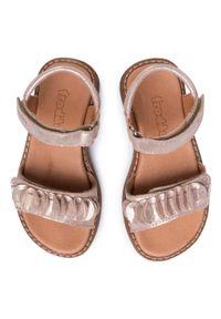 Złote sandały Froddo z aplikacjami