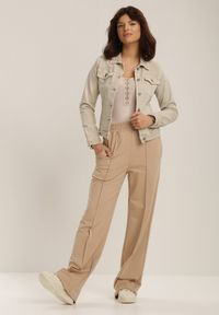 Beżowa kurtka jeansowa Renee