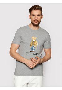 Polo Ralph Lauren T-Shirt Ssl 710835761002 Szary Slim Fit. Typ kołnierza: polo. Kolor: szary