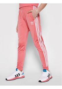 Adidas - adidas Spodnie dresowe adicolor Sst GN8456 Różowy Regular Fit. Kolor: różowy. Materiał: dresówka