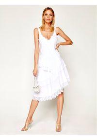 Biała sukienka My Twin na co dzień, prosta
