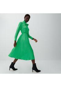 Reserved - Sukienka z wiskozy - Zielony. Kolor: zielony. Materiał: wiskoza