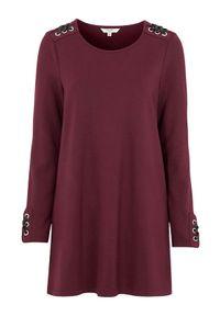 Cellbes Dżersejowa tunika ze sznurowaniem burgundowy female czerwony 54/56. Kolor: czerwony. Materiał: jersey. Długość rękawa: długi rękaw. Długość: długie