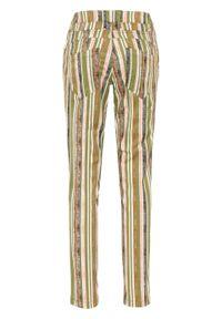 Zielone spodnie bonprix w paski