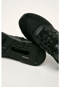 Czarne sneakersy New Balance z okrągłym noskiem, na sznurówki, z cholewką