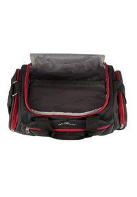 Wittchen - Mała miękka torba podróżna dwukolorowa. Kolor: wielokolorowy, czerwony, czarny. Materiał: poliester