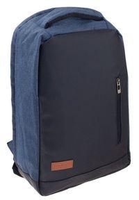 ROVICKY - Plecak męski granatowy Rovicky NB9750-4474 NAVY. Kolor: niebieski. Materiał: materiał. Styl: sportowy, biznesowy