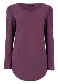 Fioletowa bluzka bonprix z długim rękawem, długa