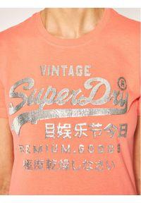 Pomarańczowy t-shirt Superdry