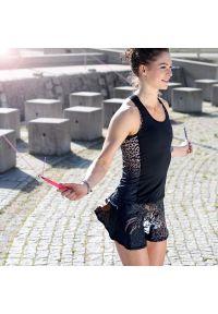FJ! - Top Cheetah. Materiał: poliester, włókno, dzianina, lycra. Wzór: nadruk, ze splotem. Sport: fitness, bieganie, joga i pilates