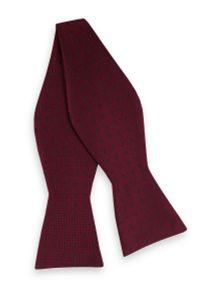 Czerwona muszka EM Men's Accessories paisley, elegancka