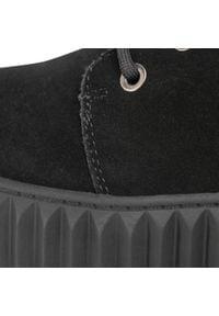 Keddo - Kozaki KEDDO - 808578/13-01G Black. Kolor: czarny. Materiał: skóra, welur. Szerokość cholewki: normalna. Sezon: zima, jesień. Styl: klasyczny, elegancki