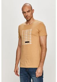 Beżowy t-shirt Tom Tailor casualowy, na co dzień