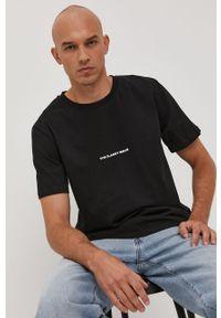Czarna bluzka The Classy Issue casualowa, z nadrukiem, na co dzień