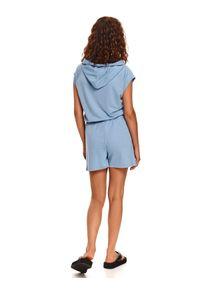 DRYWASH - Dzianinowa bluza bez rękawów. Kolor: niebieski. Materiał: dzianina. Długość rękawa: bez rękawów. Sezon: lato. Styl: wakacyjny