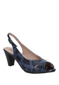 Pitillos - sandały pitillos 1664. Kolor: niebieski. Materiał: skóra, materiał. Sezon: lato. Styl: elegancki