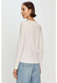 Biała bluzka z długim rękawem Tommy Jeans na co dzień, z nadrukiem, casualowa #5