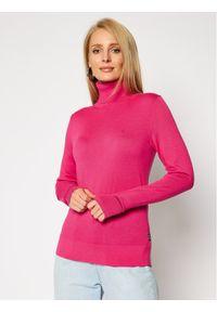 Różowy golf Calvin Klein z golfem