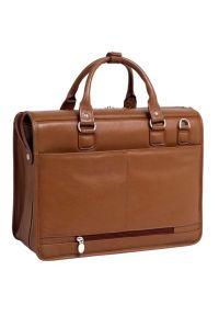 Teczka na laptopa MCKLEIN Gresham 15.6 cali Brązowy. Kolor: brązowy. Materiał: skóra. Styl: biznesowy, klasyczny