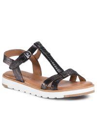 Czarne sandały Tamaris