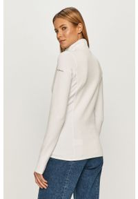 Biała bluza rozpinana columbia bez kaptura
