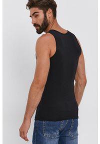 United Colors of Benetton - T-shirt. Okazja: na co dzień. Kolor: czarny. Materiał: dzianina. Styl: casual