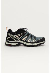salomon - Salomon - Buty X ULTRA 3 GTX. Nosek buta: okrągły. Zapięcie: sznurówki. Kolor: szary. Materiał: guma
