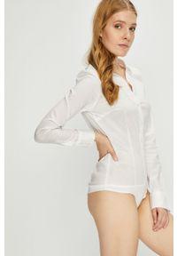 Biała koszula Vero Moda klasyczna, długa