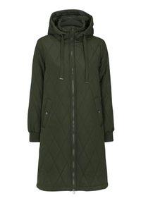 Zielony płaszcz Happy Holly długi, na jesień