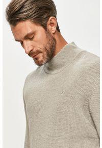 Clean Cut Copenhagen - Sweter. Okazja: na co dzień. Typ kołnierza: golf. Kolor: szary. Długość rękawa: długi rękaw. Długość: długie. Styl: casual