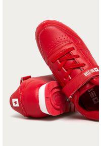 Czerwone buty sportowe Big-Star z okrągłym noskiem, na rzepy