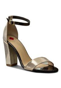 Złote sandały Maccioni