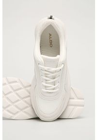 Białe buty sportowe Aldo na obcasie, z cholewką, na średnim obcasie