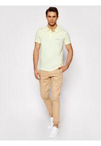 TOMMY HILFIGER - Tommy Hilfiger Polo Clean Jersey MW0MW18282 Żółty Slim Fit. Typ kołnierza: polo. Kolor: żółty. Materiał: jersey