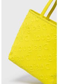 Desigual - Torebka. Kolor: żółty