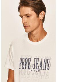 Pepe Jeans - T-shirt Snow. Okazja: na co dzień. Kolor: biały. Materiał: dzianina. Wzór: nadruk. Styl: casual