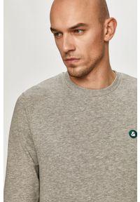Szara bluza nierozpinana Jack & Jones melanż, na co dzień, bez kaptura, casualowa