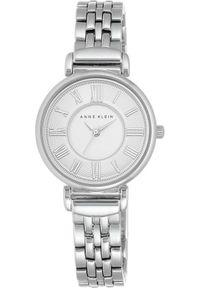 Srebrny zegarek Anne Klein