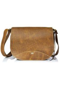 Skórzana torba damska DAAG Jazzy Wanted 112 j.brązowa. Kolor: brązowy. Materiał: skórzane. Styl: klasyczny