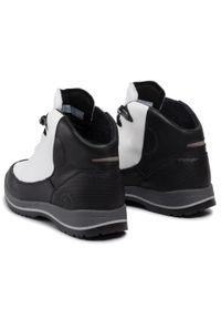 Białe buty trekkingowe Nik trekkingowe, z cholewką