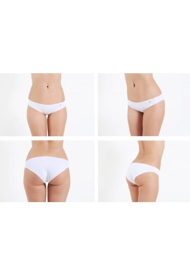 Bezszwowe Figi Pierre Cardin 3-pak Białe. Kolor: biały. Materiał: tkanina, skóra