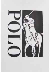 Polo Ralph Lauren - Bluza. Okazja: na co dzień. Typ kołnierza: polo. Kolor: biały. Wzór: nadruk. Styl: casual