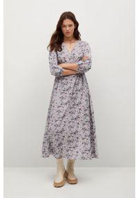 mango - Mango - Sukienka Tangerin. Okazja: na co dzień. Kolor: fioletowy. Materiał: dzianina. Typ sukienki: proste. Styl: casual