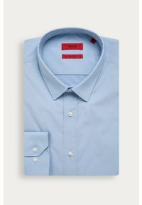 Niebieska koszula Hugo długa, klasyczna, z klasycznym kołnierzykiem