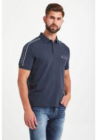 Koszulka polo Armani Exchange polo, sportowa, w jednolite wzory