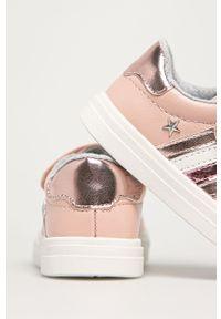 Różowe buty sportowe TOMMY HILFIGER z cholewką, na rzepy